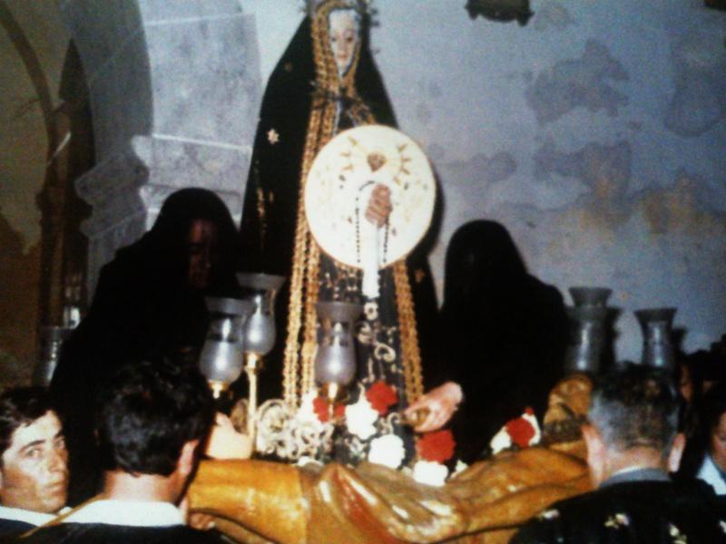 Cristo Yacente antes de ser restaurado