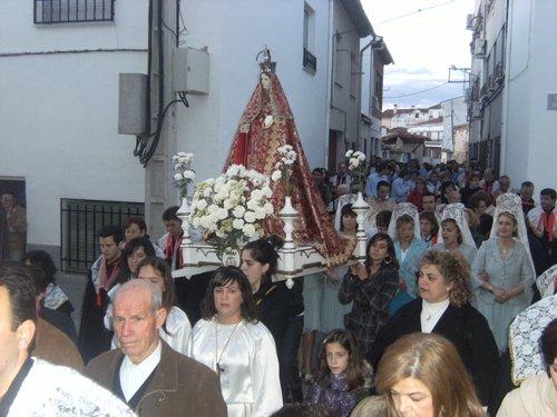 Virgen en procesion